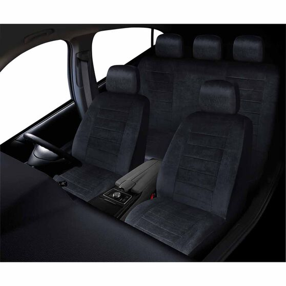 SCA Executive Seat Cover Pack - Black, Adjustable Headrests, Size 30 and 06H, Front and Rear Pack, Airbag Compatible, , scaau_hi-res