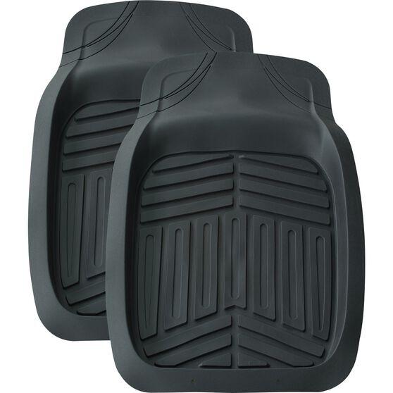 Ridge Ryder Deep Dish Car Floor Mats - Black, Front Pair, , scaau_hi-res