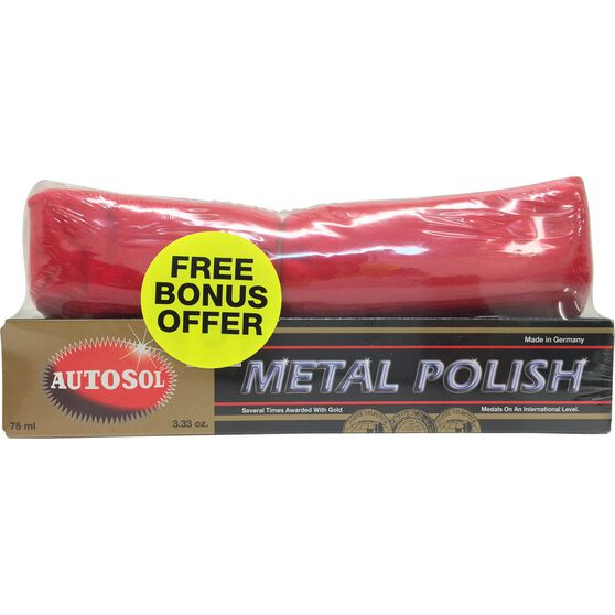 Autosol Metal Polish w / Bonus Cloth - 75mL, , scaau_hi-res