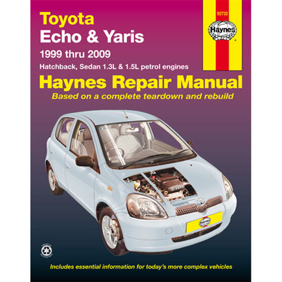 Haynes Car Manual For Toyota Echo / Yaris 1999-2009 - 92732, , scaau_hi-res