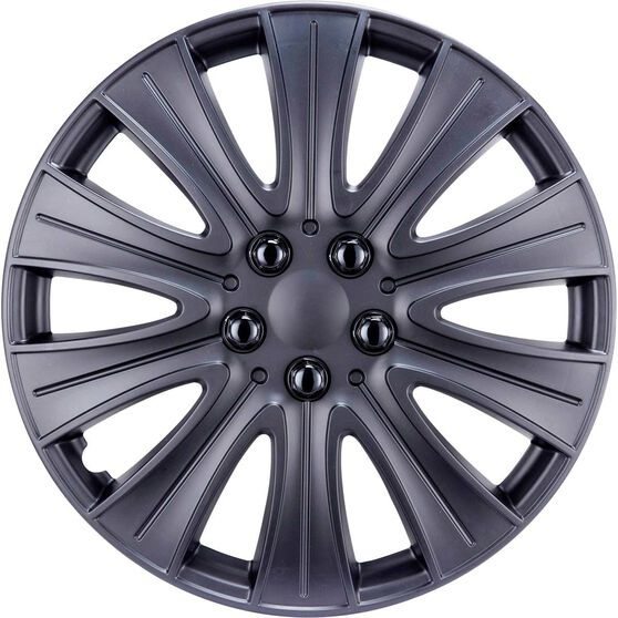 Street Series Wheel Covers - Stealth 15in, Matte Black, 4 Pack, , scaau_hi-res