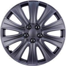 Street Series Wheel Covers Stealth 16 Inch Matte Black 4 Pack, , scaau_hi-res