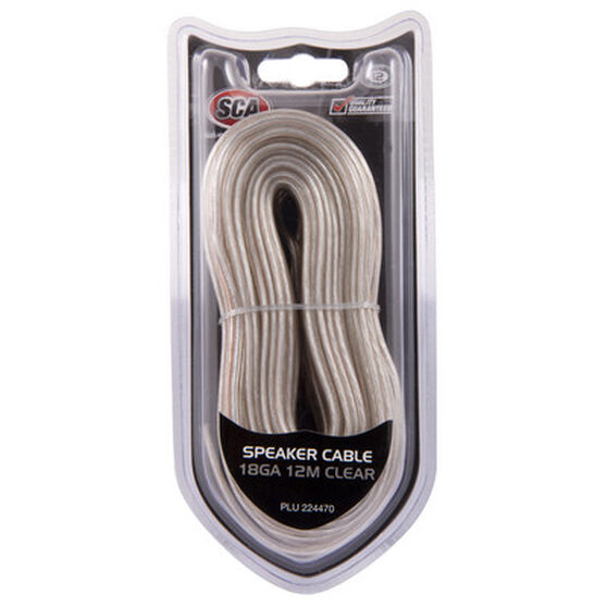 SCA Speaker Cable - Clear, 18G, 12m, , scaau_hi-res