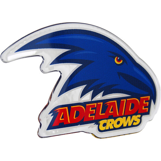 Adelaide Crows AFL Supporter Logo - Lensed Chrome Finish, , scaau_hi-res