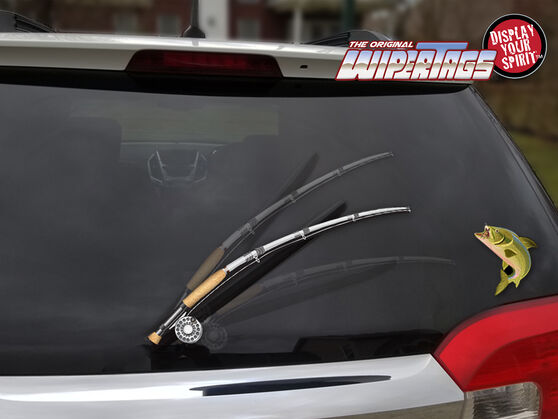 WiperTag Rear Window Blade Cover - Fishing, , scaau_hi-res