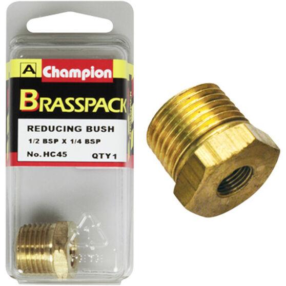 Champion Hex Reducing Bush - 1 / 2-1 / 4inch, Brass, , scaau_hi-res
