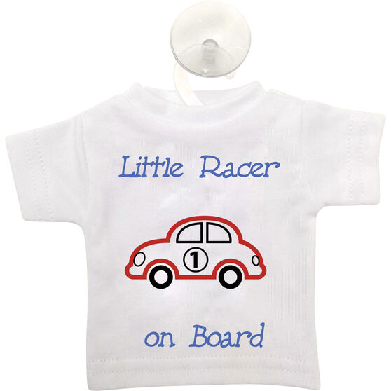 Cabin Crew Kids Little Racer on Board T-Shirt Sign Blue, , scaau_hi-res