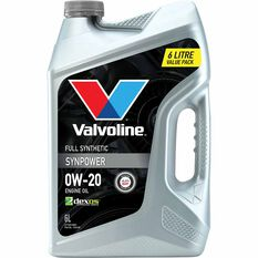 Valvoline Synpower Engine Oil 0W-20 6 Litre, , scaau_hi-res