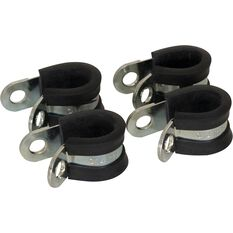 Calibre Rubber Lined P-Clamps - PC14, 4 Pieces, , scaau_hi-res