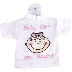 Little Car Baby on Board T-Shirt - Pink, , scaau_hi-res