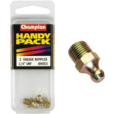 Champion Grease Nipples - UNF 1/4, BH053, Handy Pack, , scaau_hi-res
