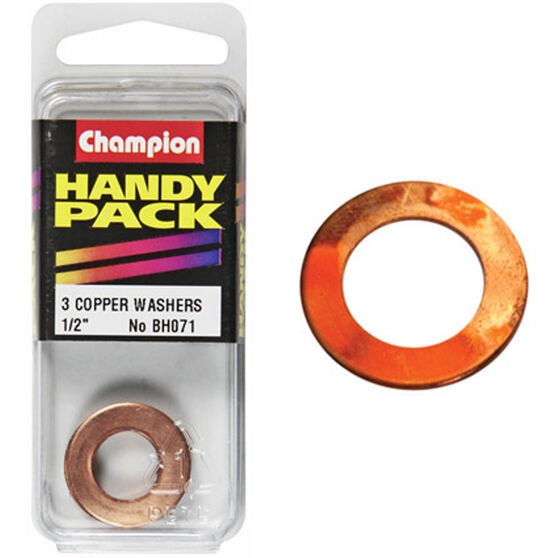 Champion Copper Washers - 1 / 2inch, Handy Pack, , scaau_hi-res