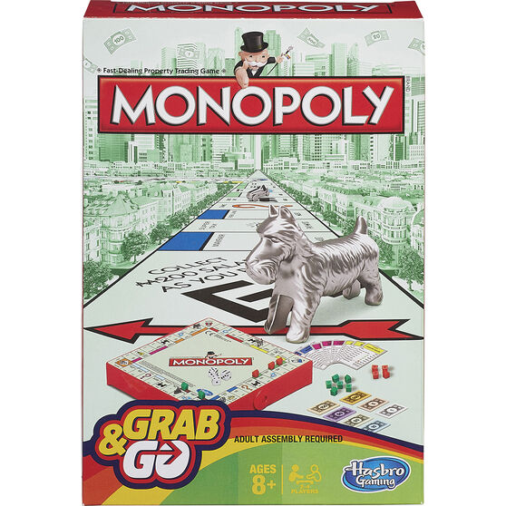 Hasbro Grab&Go Travel Game Monopoly, , scaau_hi-res