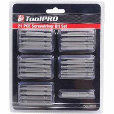ToolPRO Driver Bit Set - 21 Pieces, , scaau_hi-res