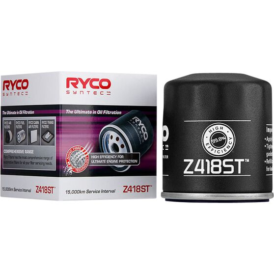 Ryco Syntec Oil Filter Z418ST (Interchangeable with Z418), , scaau_hi-res