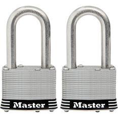 Master Lock Stainless Steel Padlock - 44mm, 2 Pack, , scaau_hi-res