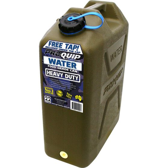 Pro Quip Water Carry Can - 22 Litre, Green, , scaau_hi-res