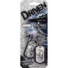 Driven Dog Tag Air Freshener Black out, , scaau_hi-res