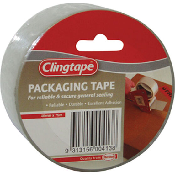 Packaging Tape - Clear, 48mm x 75m, , scaau_hi-res