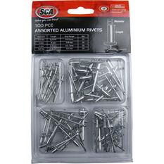 Aluminium Rivets - 100pce, Assorted, , scaau_hi-res