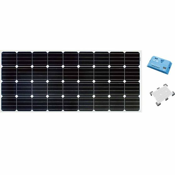 Ridge Ryder Caravan Solar Panel Kit - 160 Watt, , scaau_hi-res
