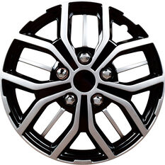 Street Series Wheel Covers - Ozone 16in, Black / Silver, 4 Pack, , scaau_hi-res