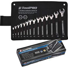 ToolPRO Spanner Set - Combination, 14 Piece, Metric, , scaau_hi-res