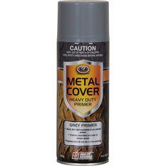 Metal Cover Aerosol Rust Paint - Enamel, Heavy Duty Grey Primer, 300g, , scaau_hi-res