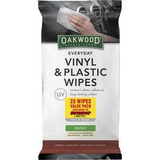 Oakwood Everyday Vinyl and Plastic Wipes - 25 Pack, , scaau_hi-res