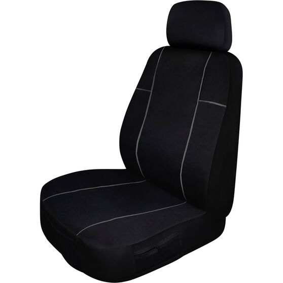 Fabulous Ridge Ryder Heavy Duty Canvas Seat Cover Black Separate Headrest Single Size 30 Airbag Compatible Pdpeps Interior Chair Design Pdpepsorg