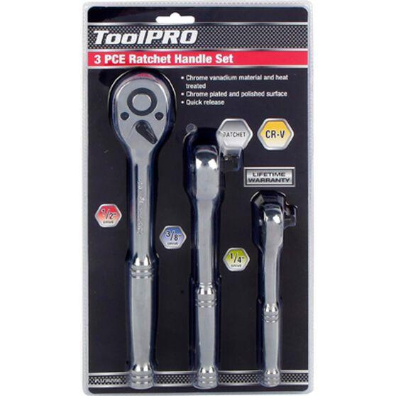 ToolPRO Ratchet Handle Set - 1 / 4 inch  /  3 / 8 inch  /  1 / 2 inch, 3 Piece, , scaau_hi-res