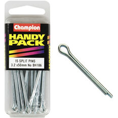 Champion Split Pins - 3.2mm X 50mm, BH186, Handy Pack, , scaau_hi-res
