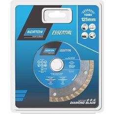 Norton Diamond Blade - Turbo, 125mm, , scaau_hi-res