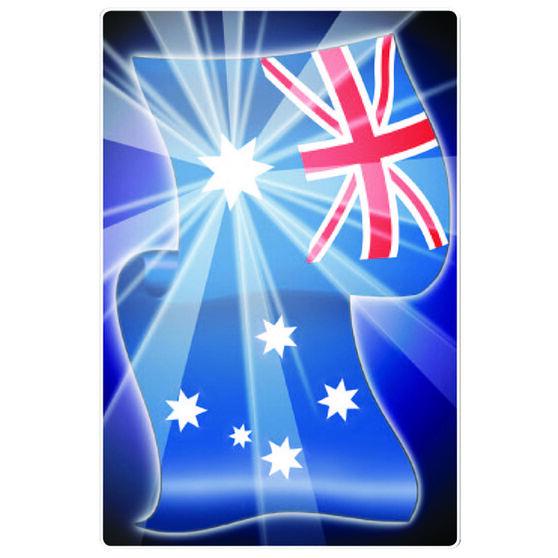 Hot Stuff Sticker - Aussie Flag, Vinyl, , scaau_hi-res