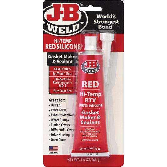 JB Weld Red Hi-Temp RTV Gasket Maker and Sealant 85g, , scaau_hi-res