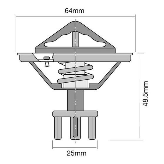 Tridon High Flow Thermostat - TT268-170, , scaau_hi-res