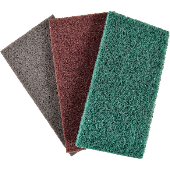 Velocity Scouring Pads, 3 Pack - 115 x 225mm, , scaau_hi-res