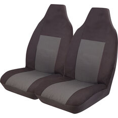 Imperial Seat Covers - Black Front Pair Built-In Headrests Size 60, , scaau_hi-res