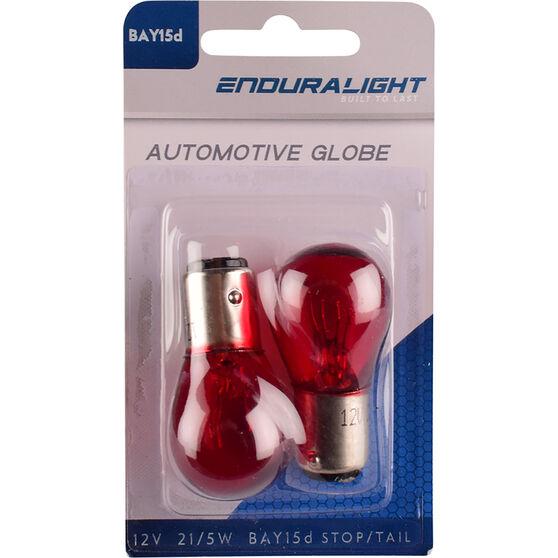 Enduralight Automotive Globe - Stop / Tail, Red, 12V, 21 / 5W, , scaau_hi-res