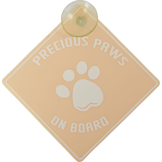 Precious Paws on Board Car Sign, , scaau_hi-res