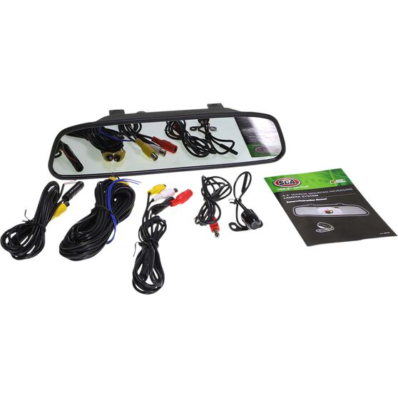 SCA Rear View Mirror and Camera Kit - Wired, 4.3inch, , scaau_hi-res