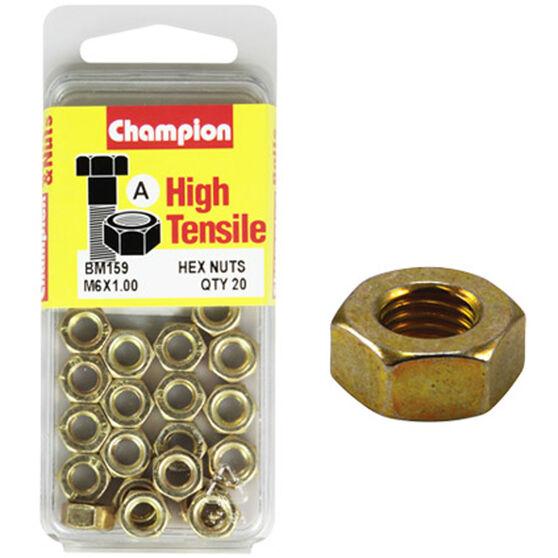 Champion Hex Nut - M6 X 1.0, BM159, , scaau_hi-res