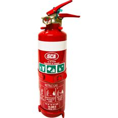 SCA Fire Extinguisher - 1kg, Home and Vehicle, Metal Mounting Bracket, , scaau_hi-res