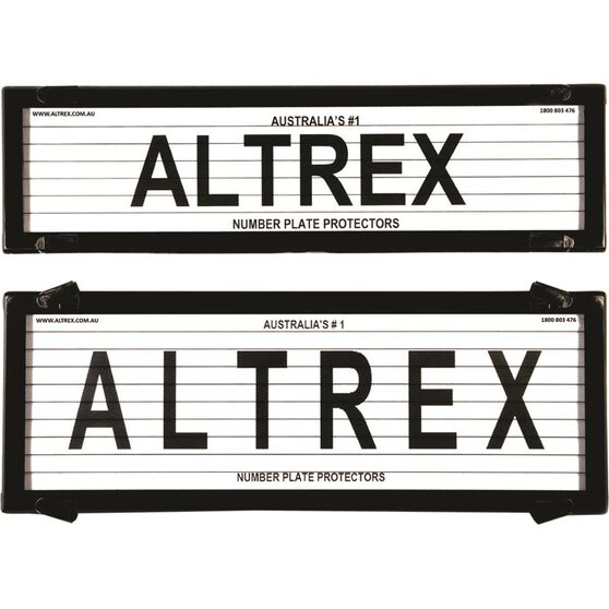 Altrex Number Plate Protector - 6 Figure Slimline With Lines 6QSL, , scaau_hi-res