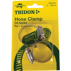 Tridon Hose Clamps - Part Stainless, 17-38mm, 2 Pieces, , scaau_hi-res