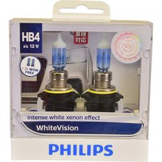 Philips WhiteVision Headlight Globe - 51W, HB4, , scaau_hi-res