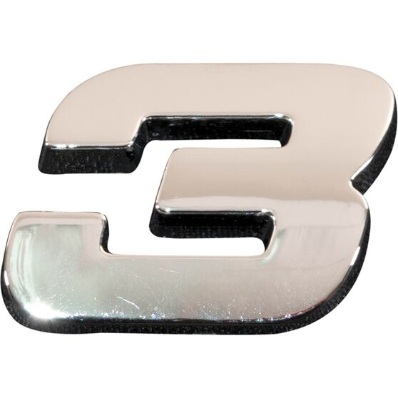 SCA 3D Chrome Badge Number 3, , scaau_hi-res