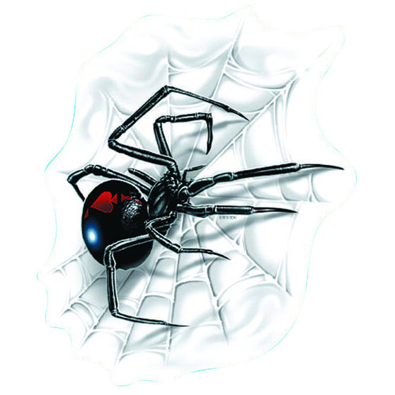 Hot Stuff Sticker - Spider with Web, Vinyl, , scaau_hi-res