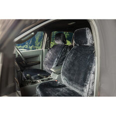 SCA Luxury Fur Seat Cover - Slate Adjustable Headrests Size 30 Front Pair Airbag Compatible, , scaau_hi-res