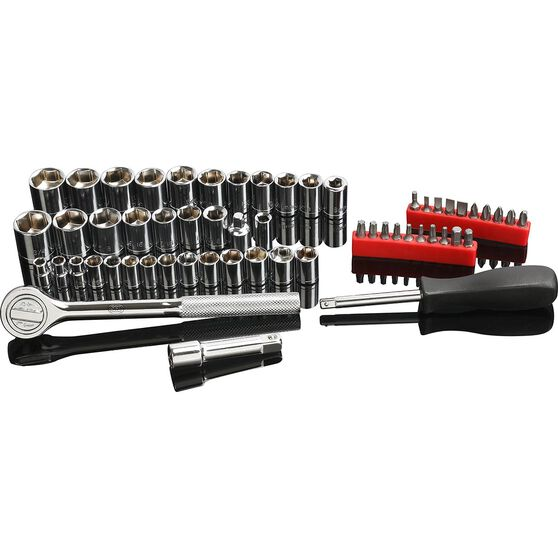 SCA Socket Set - 1/4 inch and 3/8 inch Drive, Metric & SAE, 58 Piece, , scaau_hi-res